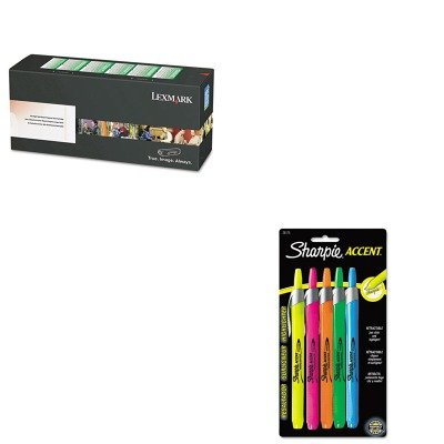 KITLEXC734A4MGSAN28175PP - Value Kit - Lexmark C734A4MG Toner (LEXC734A4MG) and Sharpie Retractable Highlighters (SAN28175PP) kitdxedxcombo50san30001 value kit dixie dinnerware party pack dxedxcombo50 and sharpie permanent marker san30001