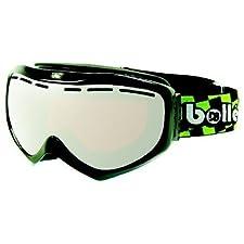 Bolle Quasar D8 Snowboard/Ski Goggles (Shiny Black UPC/Vermillon Gun)