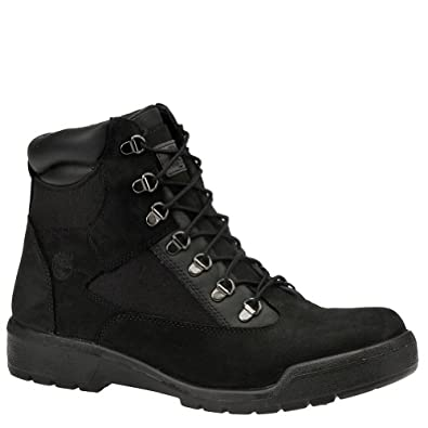 Buy Timberland Mens 6 Field Boot 8 2E US Black by Timberland