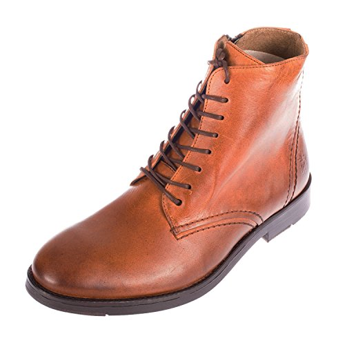 06. FLY LONDON Men's Haig Leather Lace Up Zip Boot (P143594002)