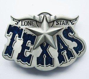 belt buckle vintage Texas Lone Star