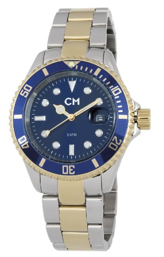 Carlo Monti Varese Men's Quartz Watch with Blue Dial Analogue Display and Silver Stainless Steel Bracelet CM507-137