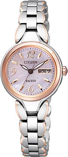 [シチズン]CITIZEN 腕時計 EXCEED エクシード チタニウムコレクション デイ&デイト 白蝶貝文字板 エコ・ドライブ時計 EW3244-56A レディース