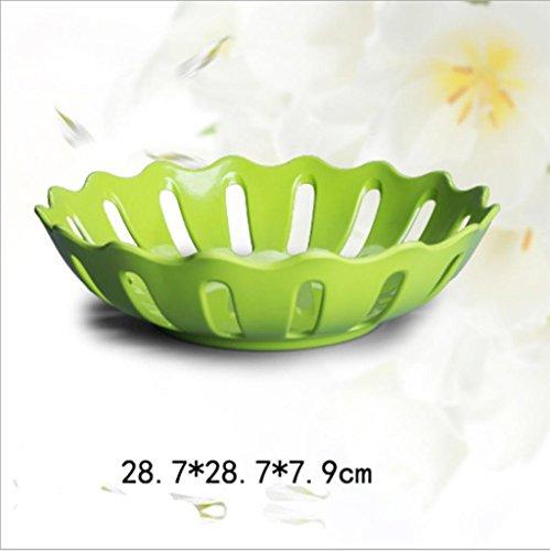 GYMNLJY Salon bonbons collations fruits secs plaque fruits plaque créative fruit plateau moderne minimaliste , green , 2