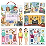 Stand-Up Paper Dolls with Re-usable Stickers and Double-Sided Play Scene, in Musician and Artist