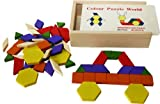 Wooden Pattern Blocks and Puzzle 60 Pieces- tangram puzzles Special offer price