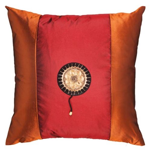 Decorative Pillows Discount: Decorative Handmade Silky Red & Rust Orange Cushion Cover / Pillow ...