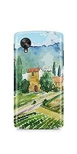Casenation Vineyard Painting Matte Case Cover For Lg Nexus 5