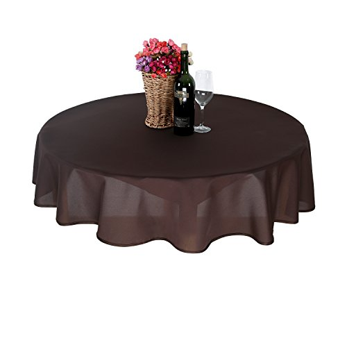 deconovo-mantel-redondo-impermeable-160-cm-marron