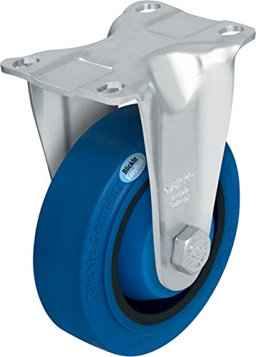 J.W. Winco B-Poev-126K-12-Sb-Fk Caster, Wheel: Elastic Solid Rubber Blickle Easyroll, 65 Degree Shore A, Non-Marking Gray Or Blue