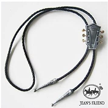 bolo new unique tie cravate texane country cowboy western loup argent