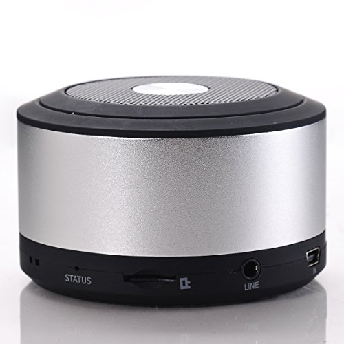 Kingson Super Bass Mini Wireless Portable USB Bluetooth Speaker with Build in Microphone Support Hands-free Function for Bluetooth Cell Phones and Tablet Pc Silver