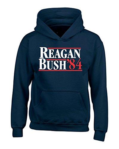 Reagan Bush 84 Hoodies Republican Presidential Campaign Sweatshirts 2XL Navy (Bush Campaign compare prices)