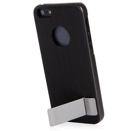 Special Sale Moshi iGlaze Kameleon Designer HardShell Case with KickStand for iPhone 5 (Black)