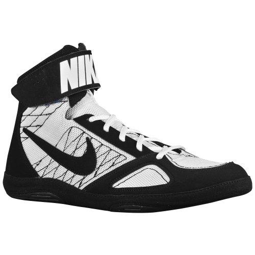 (ナイキ)Nike Product 09.5 BlackLakeWhite takedown 靴 シューズ レスリング 4 フォー men's メンズ 男性用 - black ブラック / white 【並行輸入品】