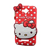 LliVEER 3D Cartoon Silicone Cover Skin Cute Soft Polka Dots Cover Case With Heart Pendant For Alcatel One Touch POP C7 Red