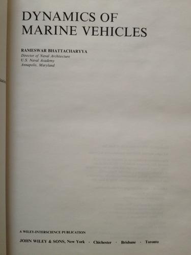 Dynamics of Marine Vehicles (Ocean engineering)