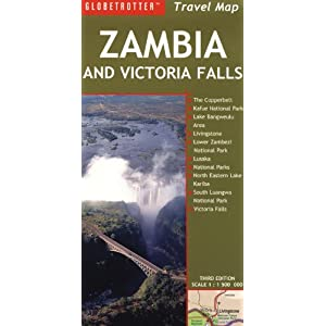 Zambia and Victoria Falls Travel Map (Globetrotter Travel Map)