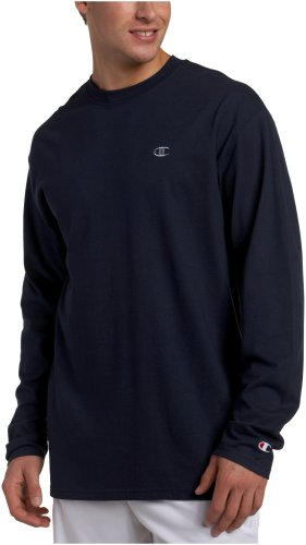 Champion Men's Long Sleeve T-Shirt, Navy, X-Large