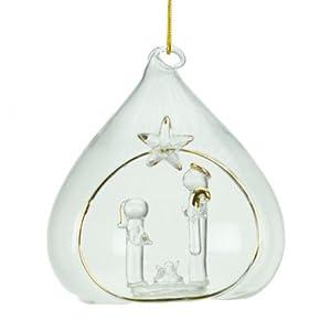 Glass Nativity Christmas Bauble