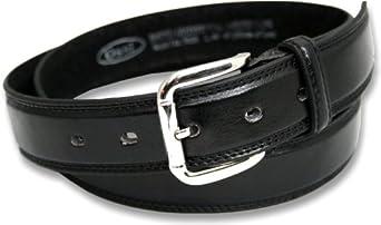 "Mens Bonded Leather Belt by Ossi. Black 48"" - 52"""