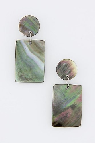 Baubles & Co Abalone Shell Earrings (Rectangle)