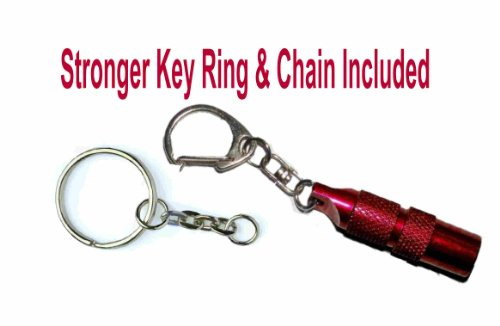 Red - Keychain Flashlight / Mini Led Bright Light (Extra Key Chain/Ring)