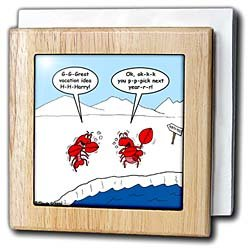 Lobster Bad Vacation Spots - 6 Inch Tile Napkin Holder