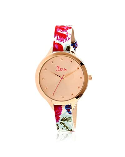 Boum Women's BM1902 Rose-Tone Bijou Leather Watch
