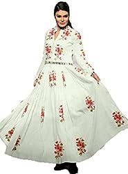 Yeoja Creation White Designer Dress(white_jalwa_freesize)