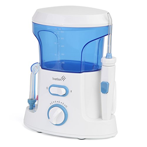 ivation oral irrigator compact countertop water flosser with 5 interchagneable tips 2 jets. Black Bedroom Furniture Sets. Home Design Ideas