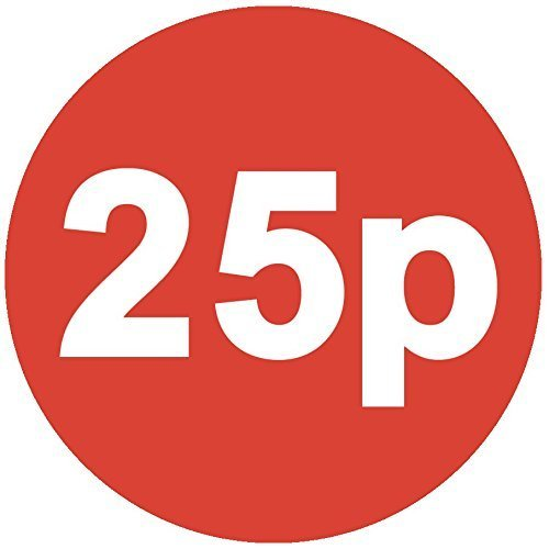 Audioprint Ltd. 40 Paquet de 456 Prix Stickers 30mm Red