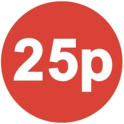 Audioprint Lot. Lot de 200Consumer Store Prix Autocollants 30mm rouge