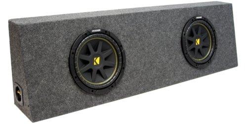 "Asc Package Dual 12"" Kicker Sub Box Regular Cab Truck Subwoofer Enclosure C12 Comp 600 Watts Peak"
