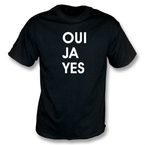Oui Ja Yes (as worn by Thom Yorke of Radiohead) t-shirt Medium Black