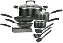 T-Fal Signature Nonstick 12-Piece Cookware Set Black