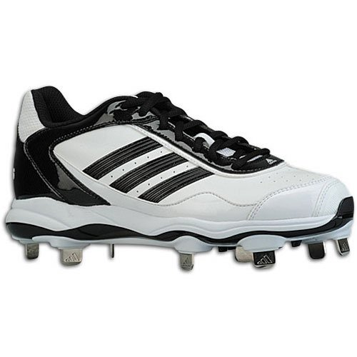 adidas Adidas Women's Abbott Pro Low Metal Fastpitch Cleat, White|Black|Black, 8 1/2