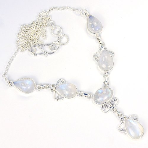 Ice Cold Moonstone & Sterling Silver Necklace