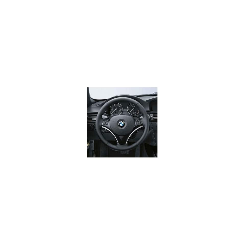 Genuine BMW High Gloss Black Steering Wheel Trim  Multi function Buttons.  3 Series Convertible 2007 2012/ 3 Series Coupes 2007 2012/ 3 Series Sport Wagons 2007 2012