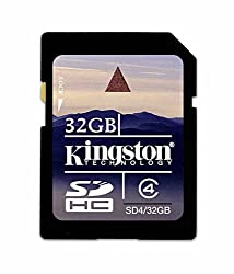 Kingston 32GB Class 4 SDHC Card