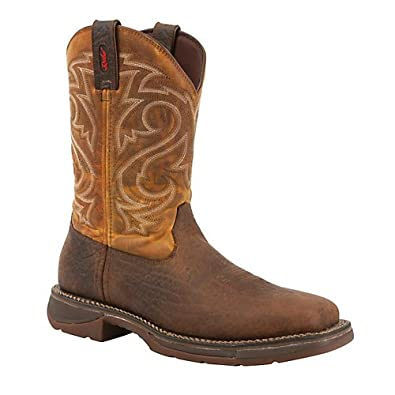 Buy Durango Mens Workin Rebel Sq Toe Ochre Boot 10.5 by Durango