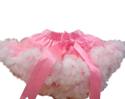 0-9T Baby Tutu skirts Ruffles Wedding Flower Girl Dress Princess Gown Petticoat tutu A2-13 Pink/ White 7-9 Anni