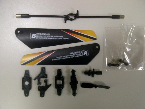 Full Blade Set Replacement/Spare Parts Compatible with Haktoys HAK321 and HAK325 Mini RC Helicopters - 1