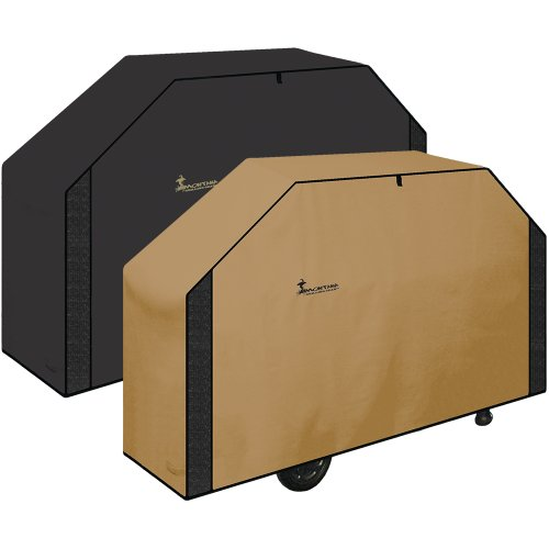 Classic Series Reversible BBQ Grill Cover (Taupe, Medium)