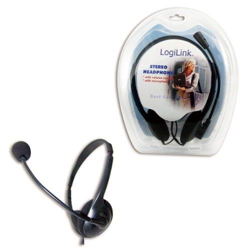 LogiLink HS-0001 Stereo Headset Kopfhörer mit Mikrofon Deluxe
