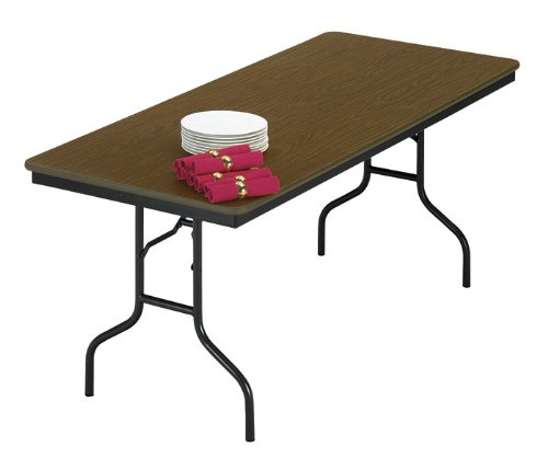 Midwest Folding Products Quick Ship EF Series Rectangular Plywood Core Folding Table