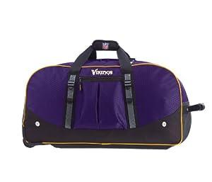 NFL Minnesota Vikings Wheeled 34-Inch Duffel Bag by ATHALON