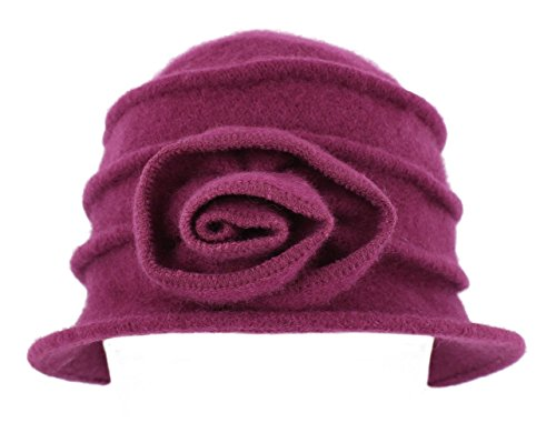 whiteley-fischer-ladies-pleated-wool-cloche-hat-bh1732-cerise