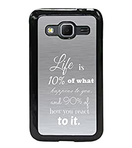 Fuson 2D Printed Quotes Designer back case cover for SAMSUNG GALAXY CORE PRIME G360H - D4545
