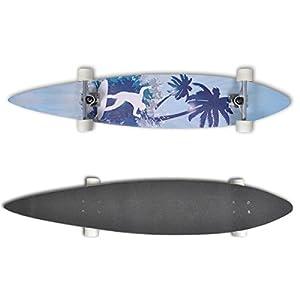 """Longboard Skateboard Streetsurfer 117cm 7"""" Komplettboard Design Board"""